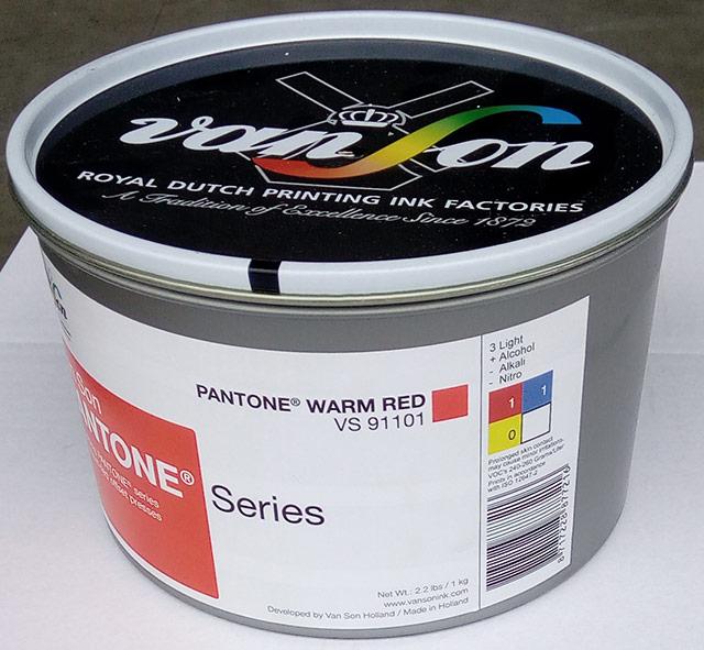 Pantone Warm Red (1 x 1 kg) , svjetlostalnost 3