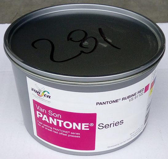 Pantone Rubine Red (1 x 1 kg), svjetlostalnost 5, Royal Dutch Van Son