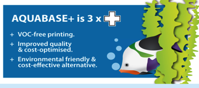 AQUABASE+      postiže se visoka kvaliteta otiska na svim vrstama papira i folija (upojne i neupojne podloge) i ujedno ostvaruje dodanu vrijednost u tiskovnom procesu